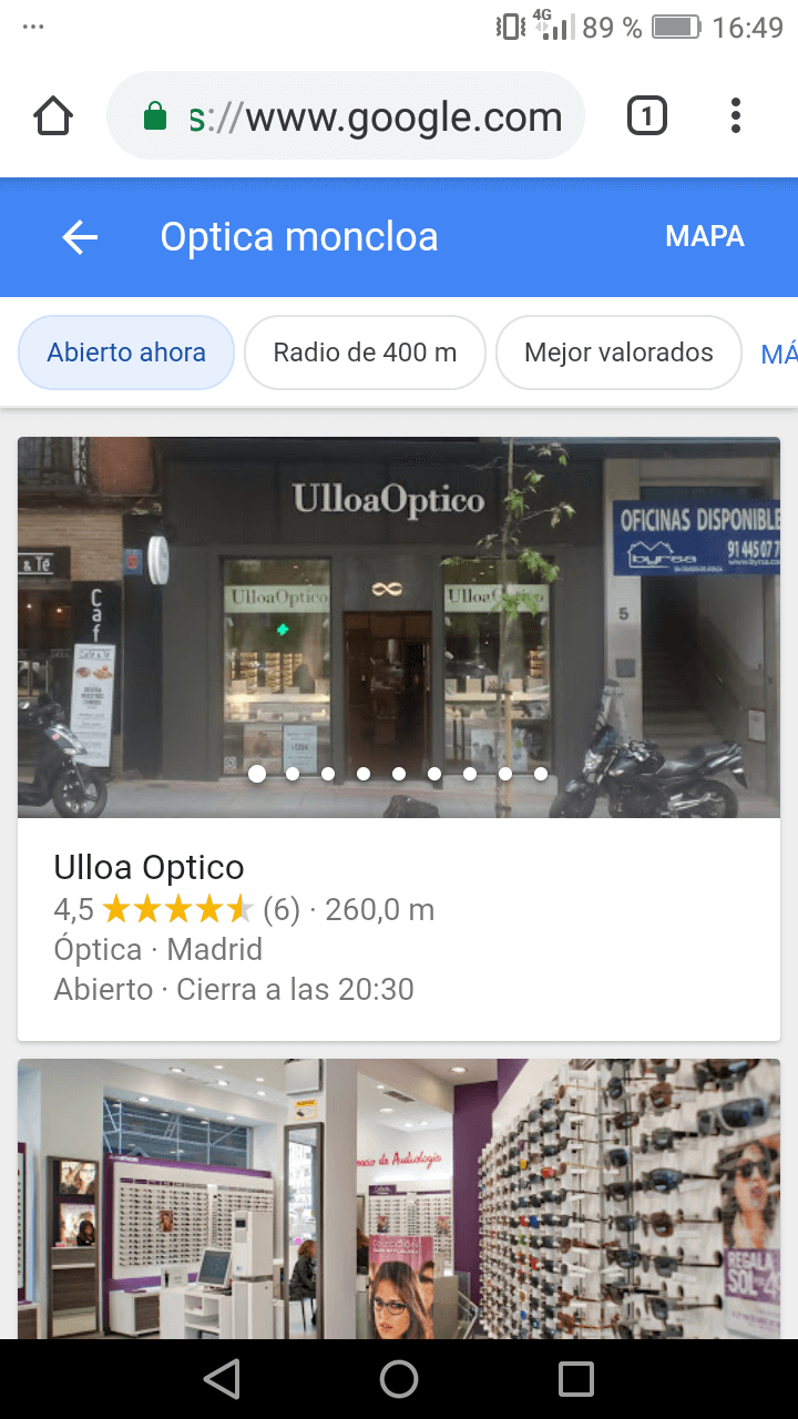 seo local en dispositivos moviles