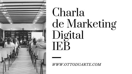 Charla de marketing digital en el IEB