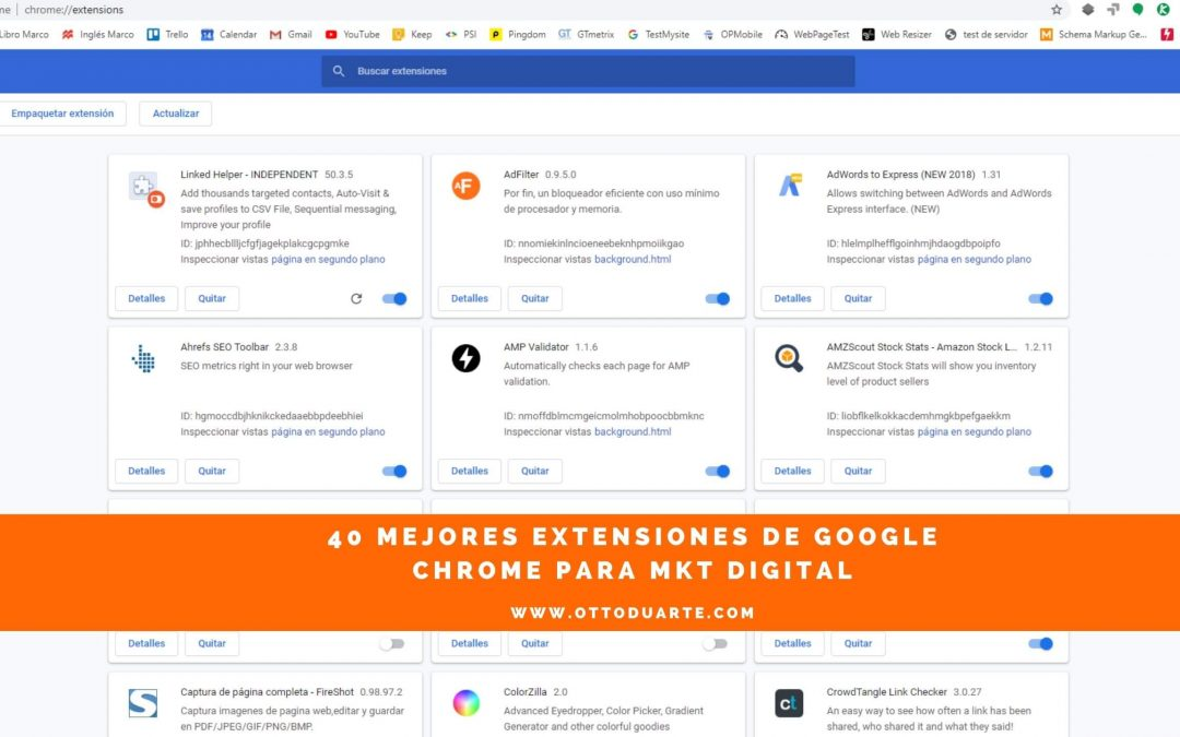 40 mejores extensiones de google chrome para marketing digital